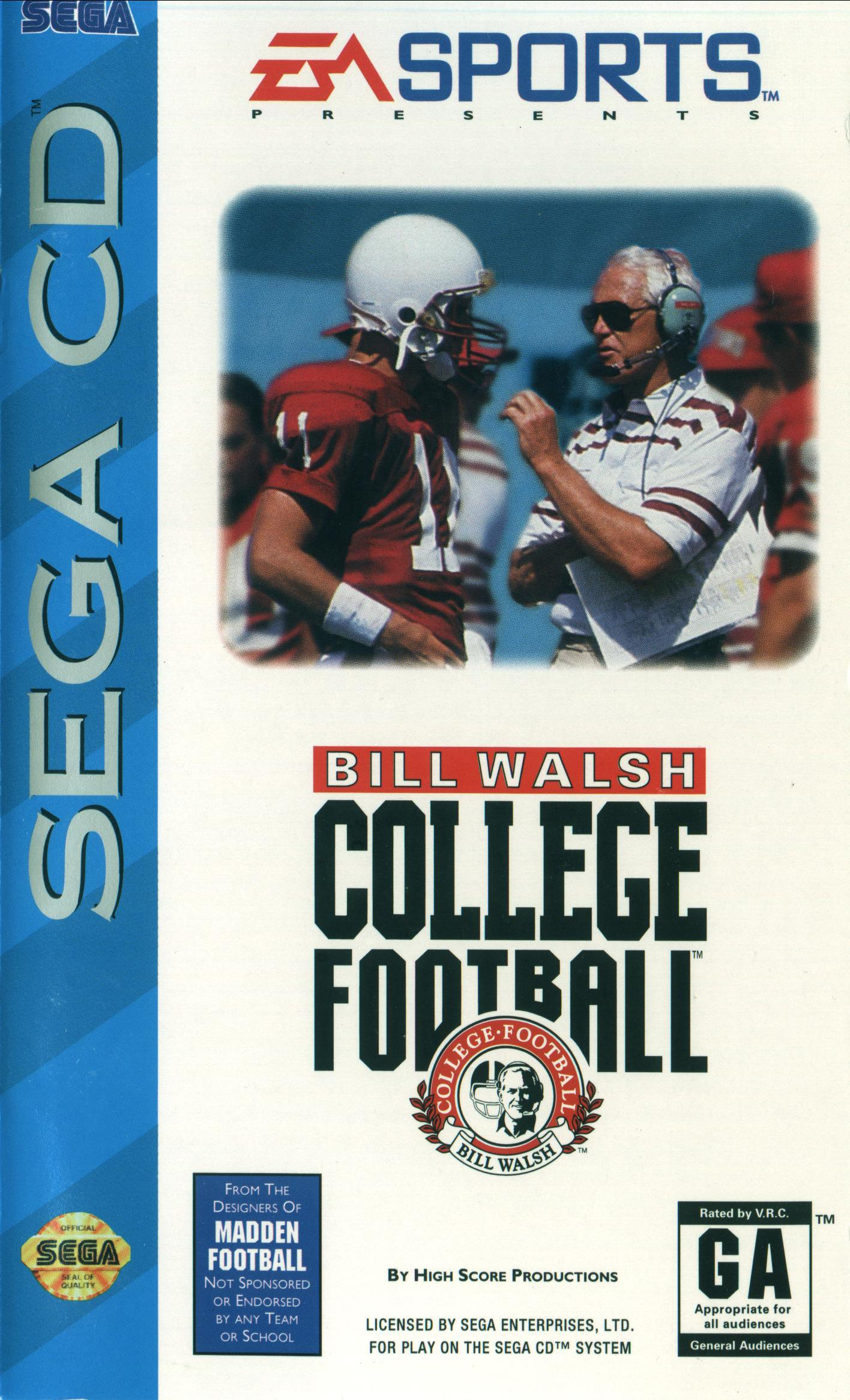 Bill Walsh College Football (U) Front Cover